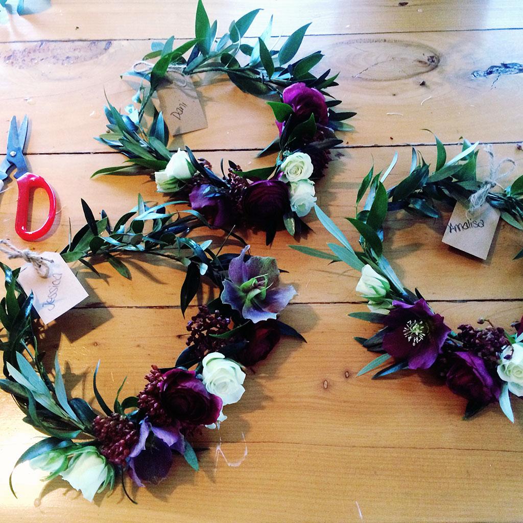 Shontelle Burgundy flower crown
